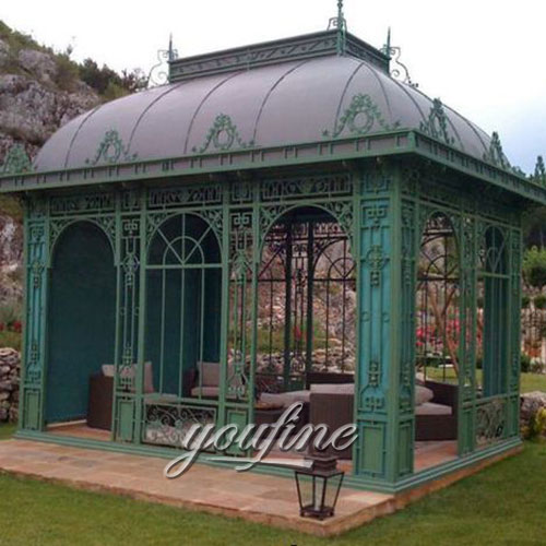 Hot selling Large outdoor metal 10×10 gazebo for garden