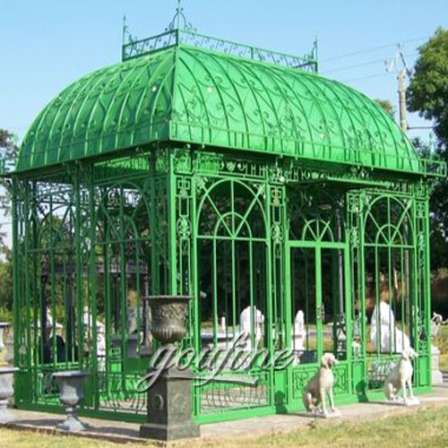 Large outdoor steel wrought iron 10×10 gazebo for sale