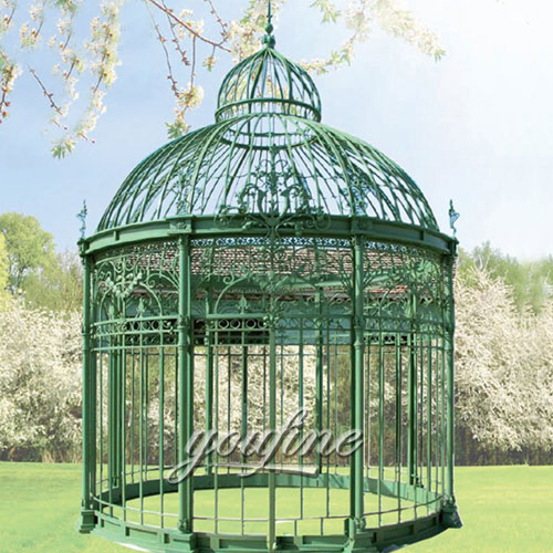 Buying outdoor steel round gazebo for garden decor