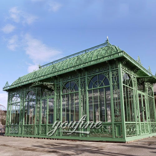Outdoor large wrought iron metal framed white gazebo for wedding ceremony