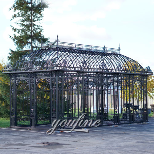 Best price large outdoor garden wrought iron metal roof gazebo for sale