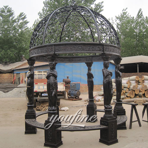 Buying small outdoor garden round metal steel roof gazebo with best price