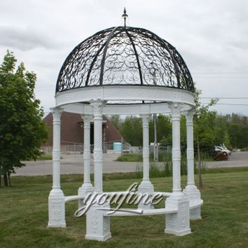 Buying outdoor White marble gazebo for garden decor