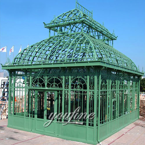 Outdoor large wrought iron 12×12 gazebo with best price