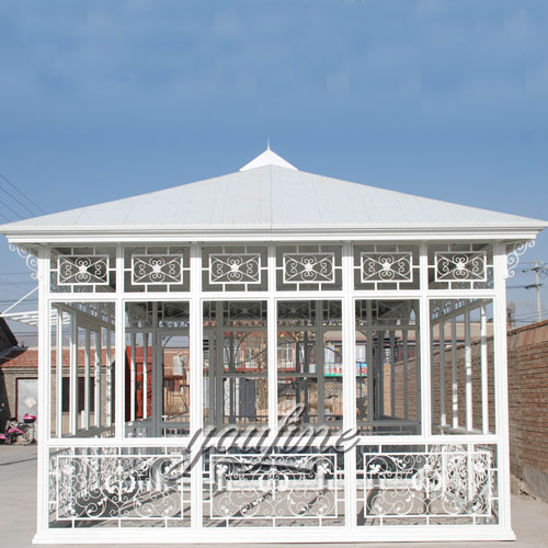 Outdoor large garden decor metal white gazebo with best price