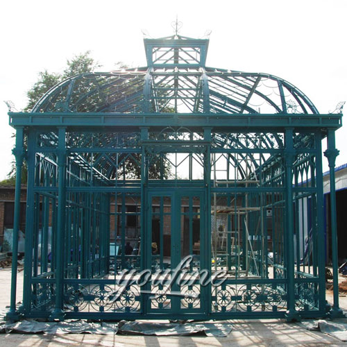 Outdoor large garden screened 12×12 wrought iron gazebo for sale