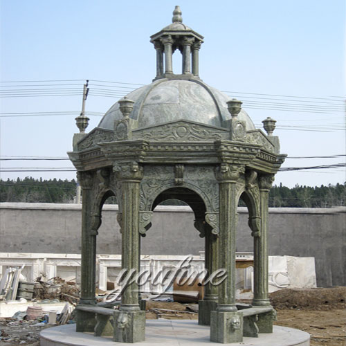 Classical Decorative outdoor natural stone gazebo for sale
