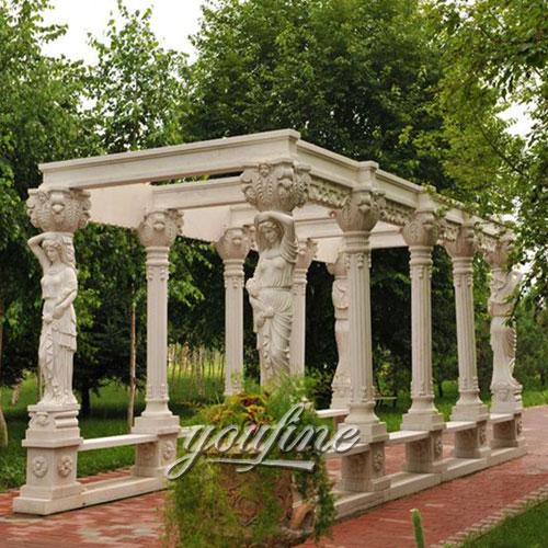 Best deal antique hexagon garden metal gazebo figure for windy areas canada g - Pergola metal adossee ...