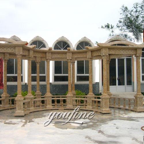 Modern Decoration outdoor natural stone gazebo for sale